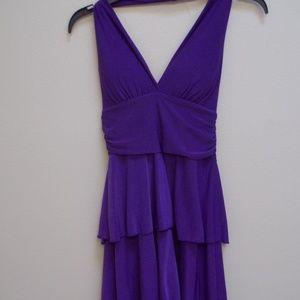 Ladies Purple Layered Dress